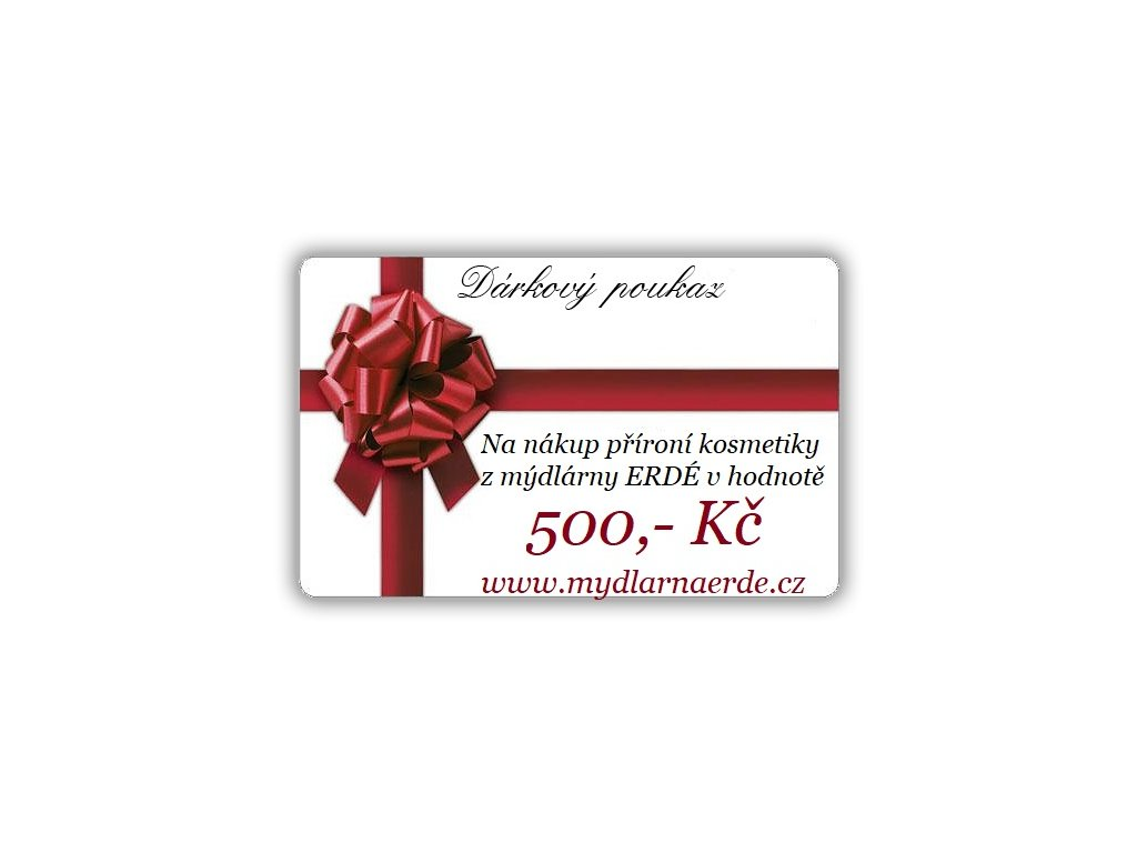 DÁRKOVÝ KUPON 500 KČ
