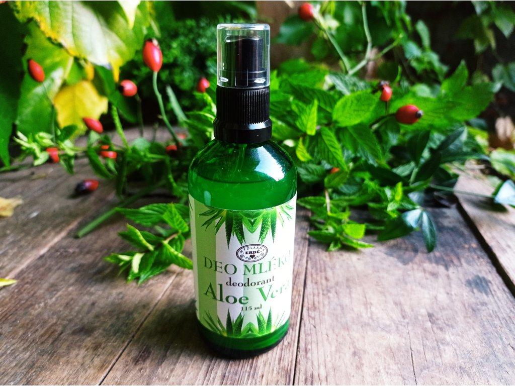 Deo mléko Aloe vera 100+15 ml ml deodorant ve skle