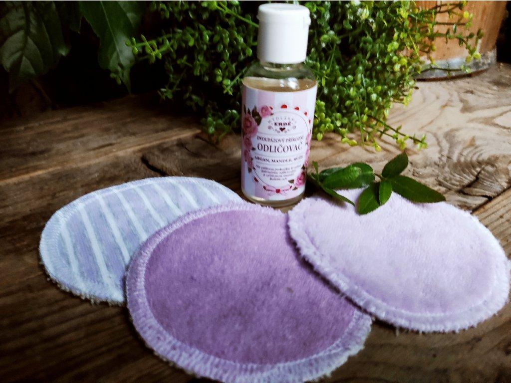 Dvoufázový přírodní odličovač 3 ks kosmetické tampony