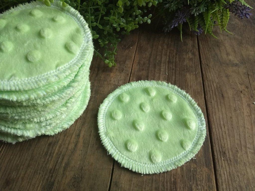 Kosmetický tampon Zelené minky 3 ks