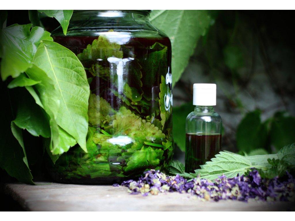Kopřiva a sléz s olejem z hroznových jader dvoufázové tonikum 50 ml Ve skle
