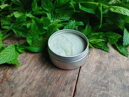 Přírodní holící mýdlo Zelený jíl a máta - v dóze