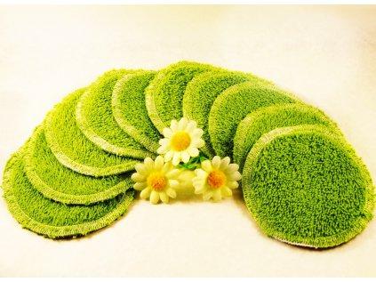 zelené froté