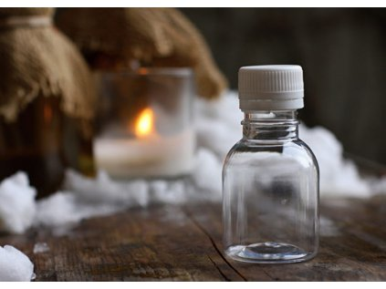 prázdná lahvička s uzávěrem