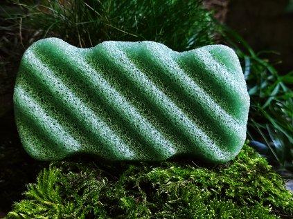 Tělový zelený konjac přírodní čistící houbička
