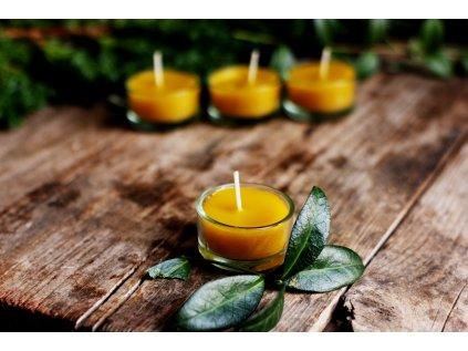 Medová svíčka bez parfemace