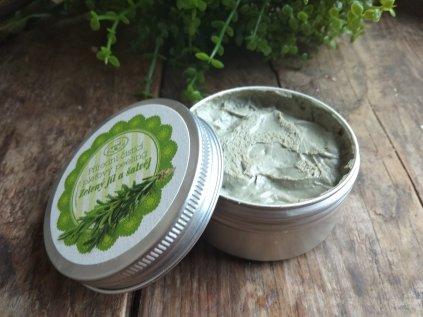 Zelený jíl a šalvěj čistící peeling