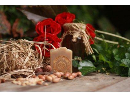 Hedvábný argan mýdlový šampon 50 g