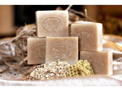 Přírodní ovesné mýdlo s medem - bez parfemace