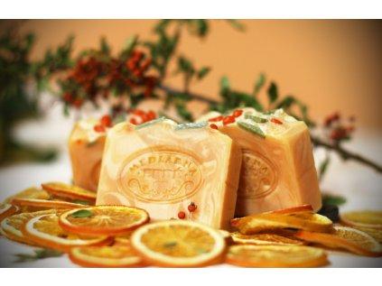 Citrusový rakytník přírodní mýdlo
