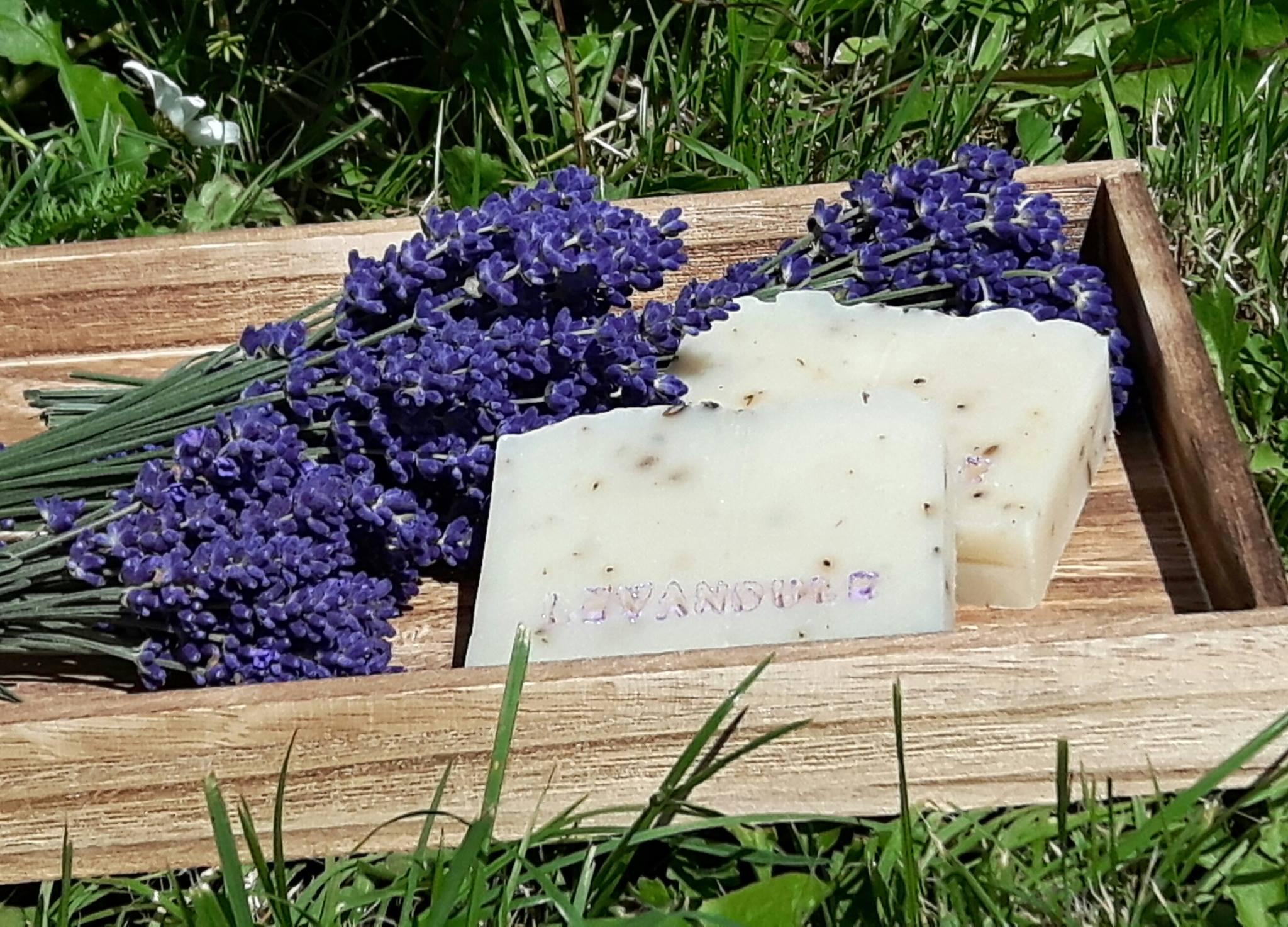 Levandulové mýdlo zahrada