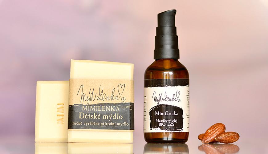 MimiLenka Mandlový olej a Dětské mýdlo