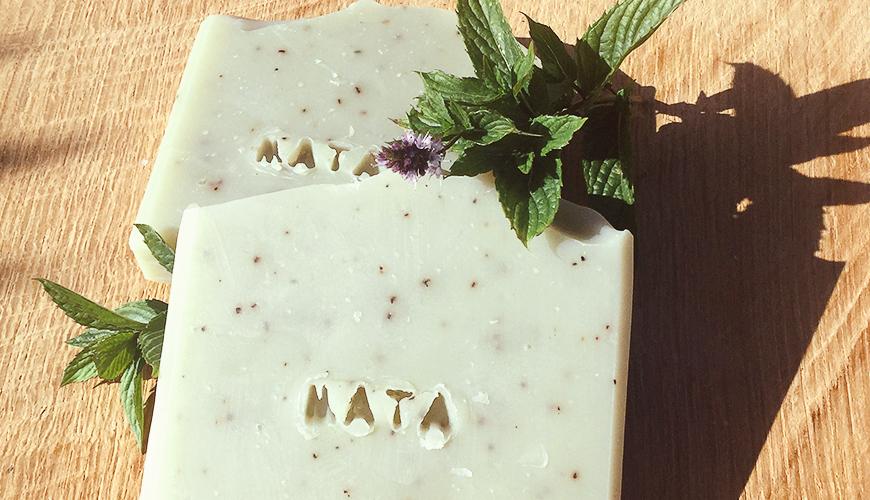 mýdlo Máta a zelený jíl