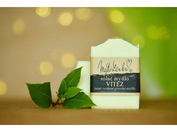 Přírodní solné mýdlo Vítěz MýdLenka s vavřínovým olejem