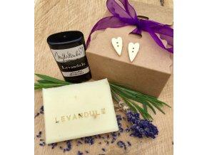 Dárkový balíček Levandulový - Levandulové mýdlo a deodorant Levandule v krabičce