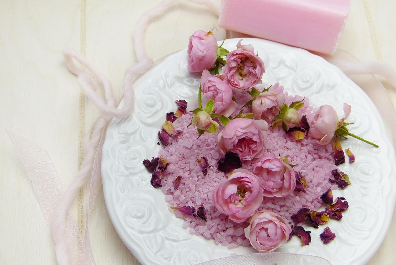 Soľ do kúpeľa s vôňou ruží