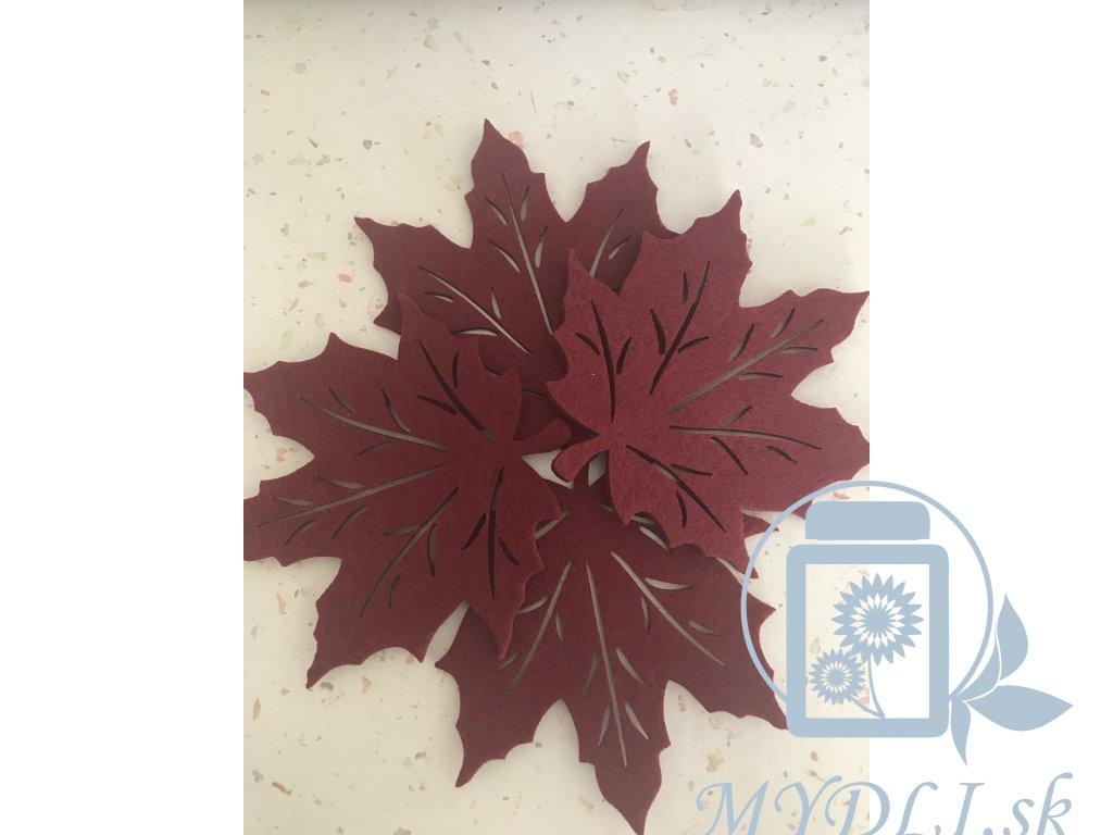 Filcový list - ozdoba do mydlových kytíc