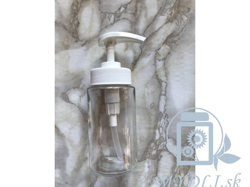 davkovač na mydlo zo skla
