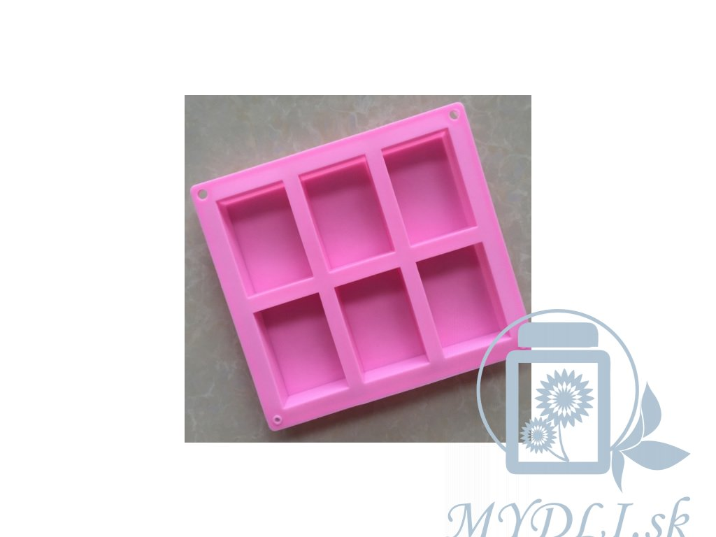 silikonova forma na vyrobu mydla 6 obdlznikov