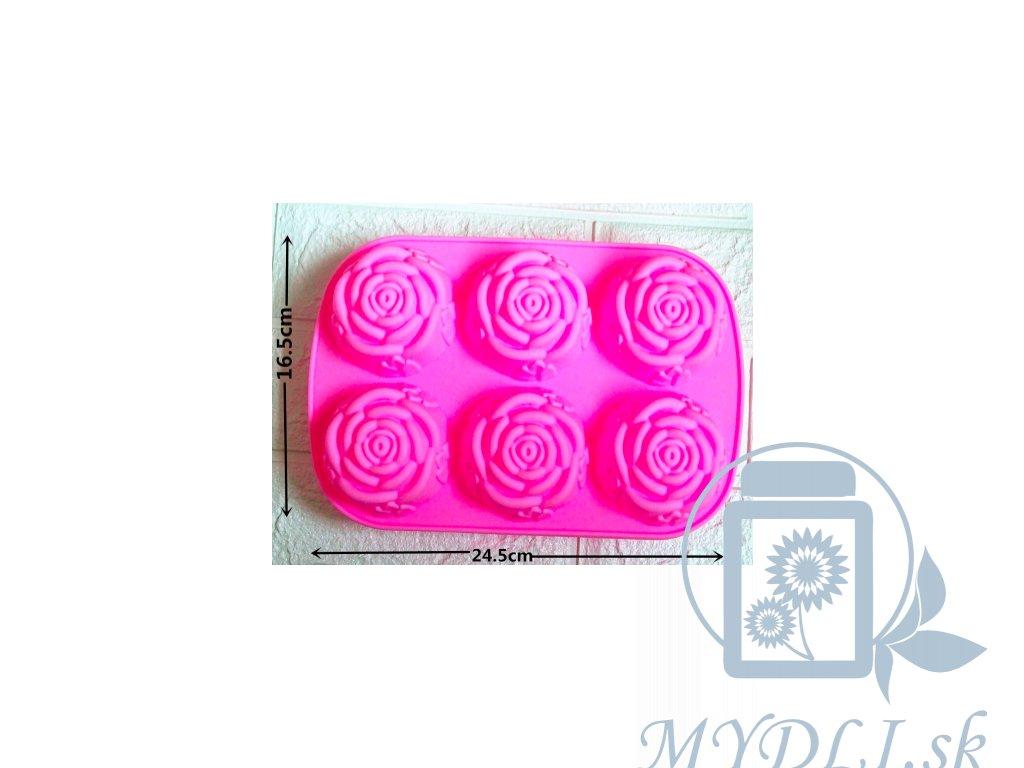 silikónová forma na výrobu mydla ruža