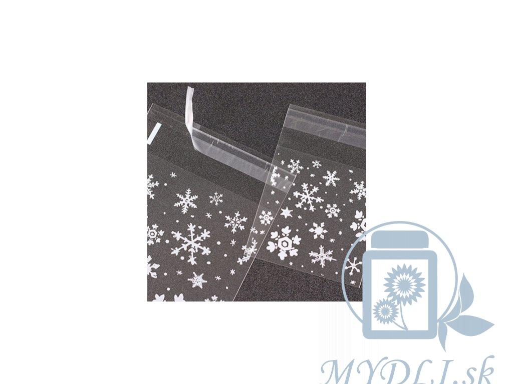vianočný celofánový sáčok snehová vločka