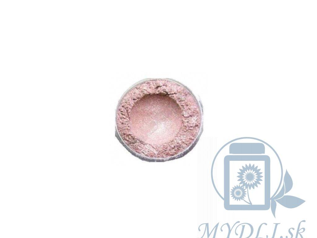 strieborno ružová mica