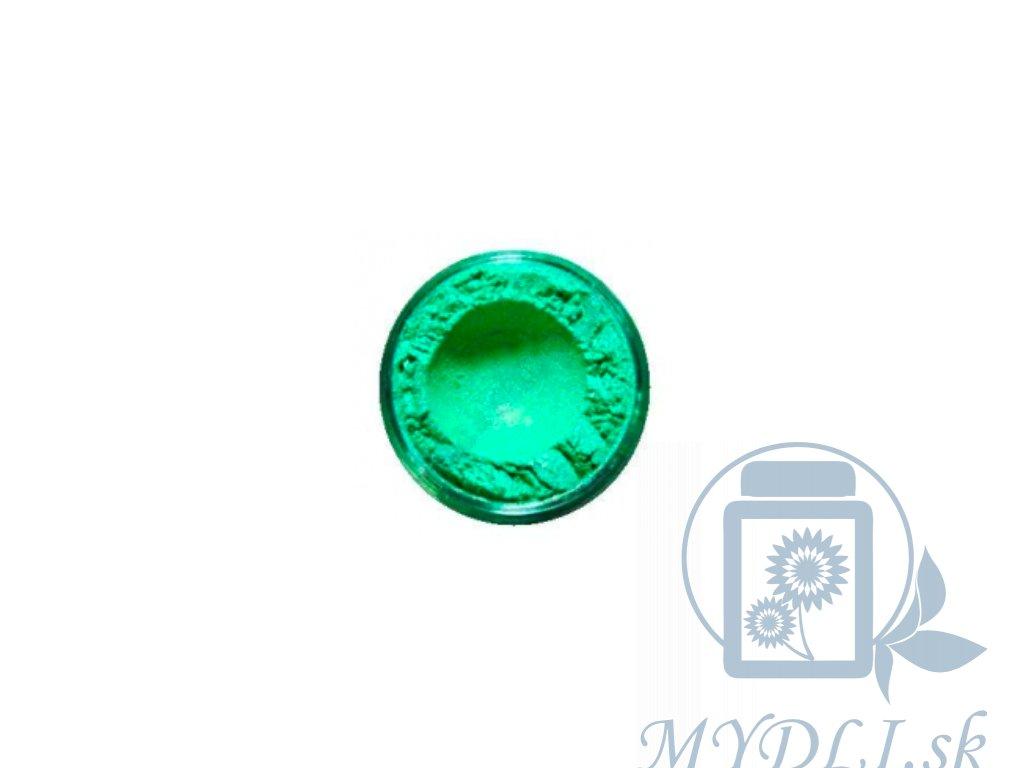 mica zelená pre mydlove hmoty