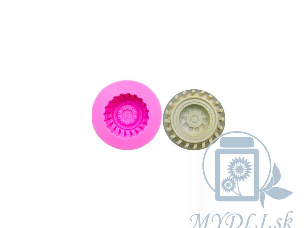 koleso auta silikonova forma mydli