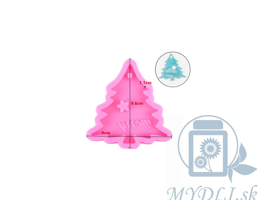 silikonova forma vianocny strom