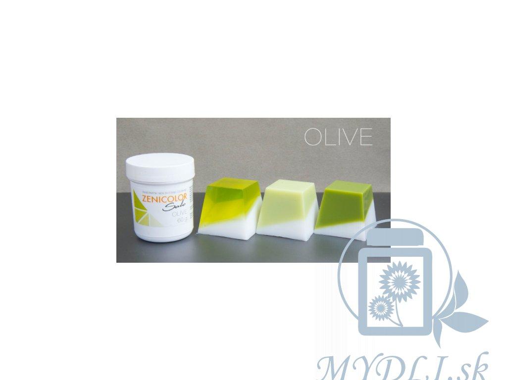 zenicolor olivovo zelená farba