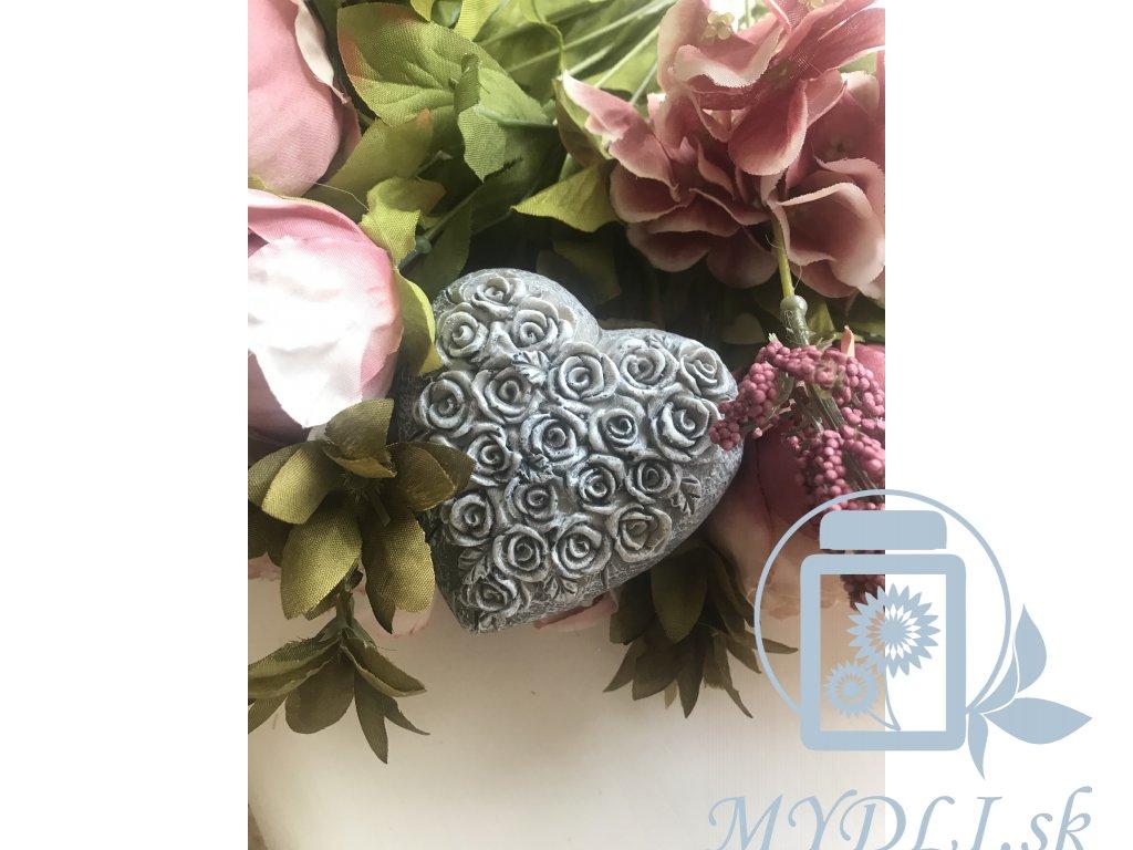 Mydli silikónová forma srdce s ružami