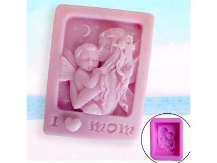 Silikónová forma na výrobu mydla mama