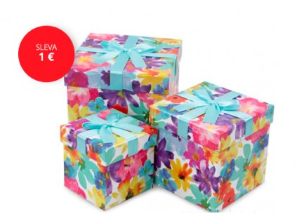 set kvetovaných boxov na mydlové kytice
