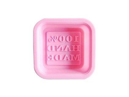 Silikónová forma na výrobu mydla s nápisom HAND MADE
