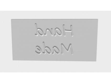 pečiatka na mydlo s napisom hand made