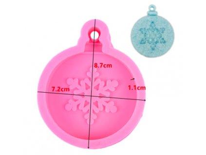 silikonova forma vianočná guľa