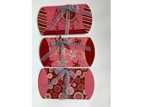 Vianočná krabička ružová