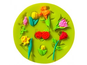 silikonova forma tulipan ruža