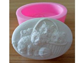 silikonova forma mačka na výrobu mydla