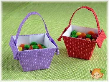 Jak složit origami košíček