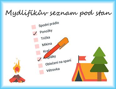 Mydlifíkův seznam věcí pod stan