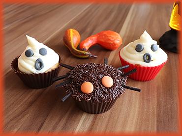 Jak na vanilkové Halloweenské muffiny