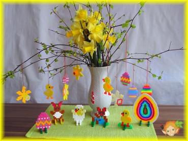 Velikonoční dekorace z HAMA korálků
