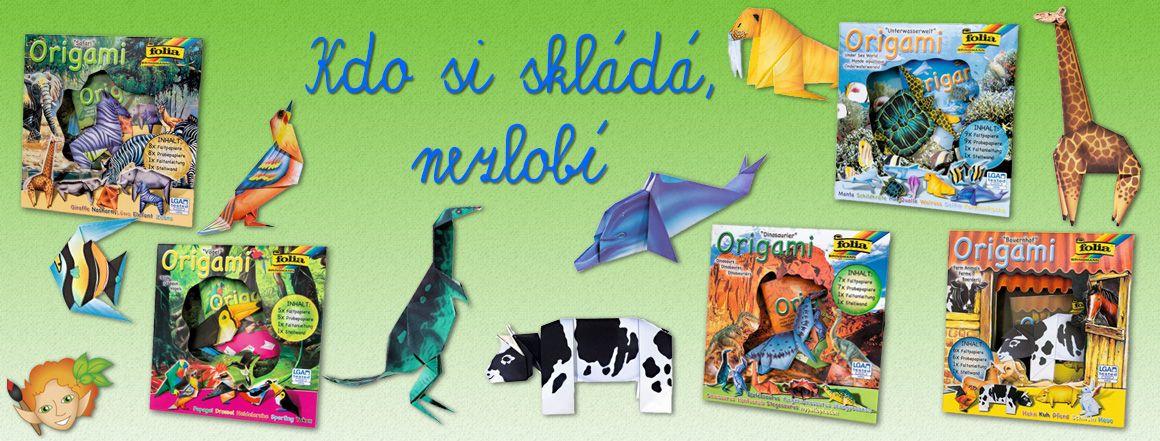 Origami - skládačky z papíru ve tvaru zvířátek - skvělá zábava pro děti. Prodává Mydlifík.cz
