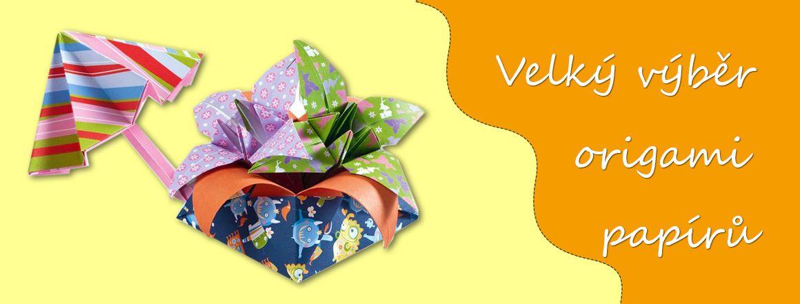 Origami papíry - krásné motivy, velký výber velikostí papírů a různé gramáže. Prodává Mydlifík.cz