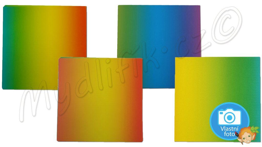 Folia 717 - Duhove origami papiry 10x10 cm, nabizi Mydlifik.cz