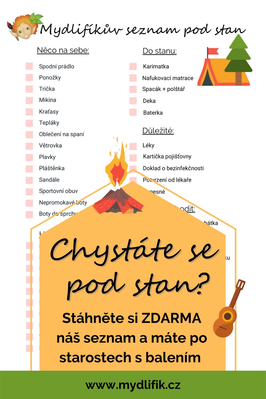 Seznam věcí na tábor