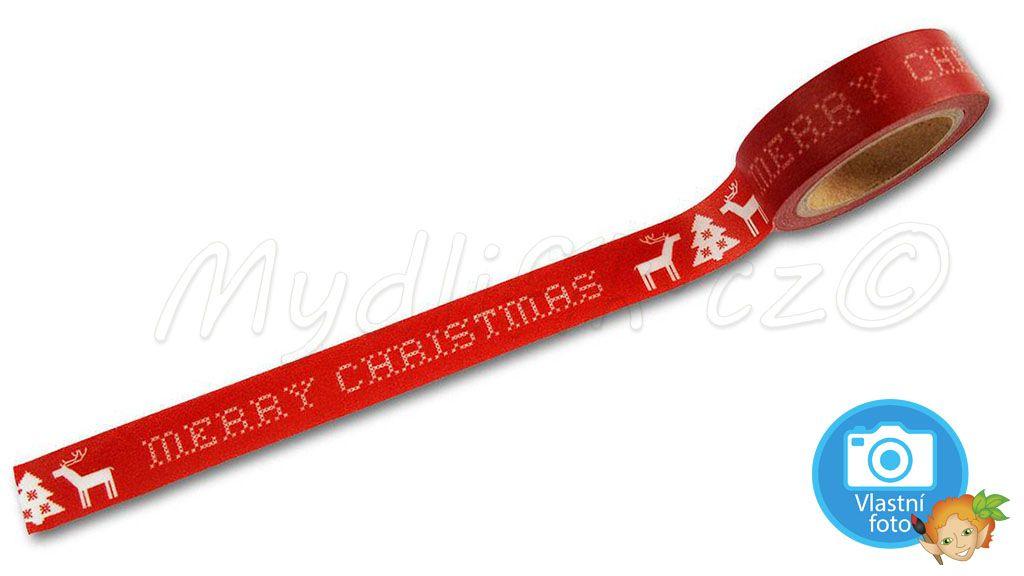 Folia 26054 - washi páska s nápisem Merry Christmas, prodava mydlifik.cz