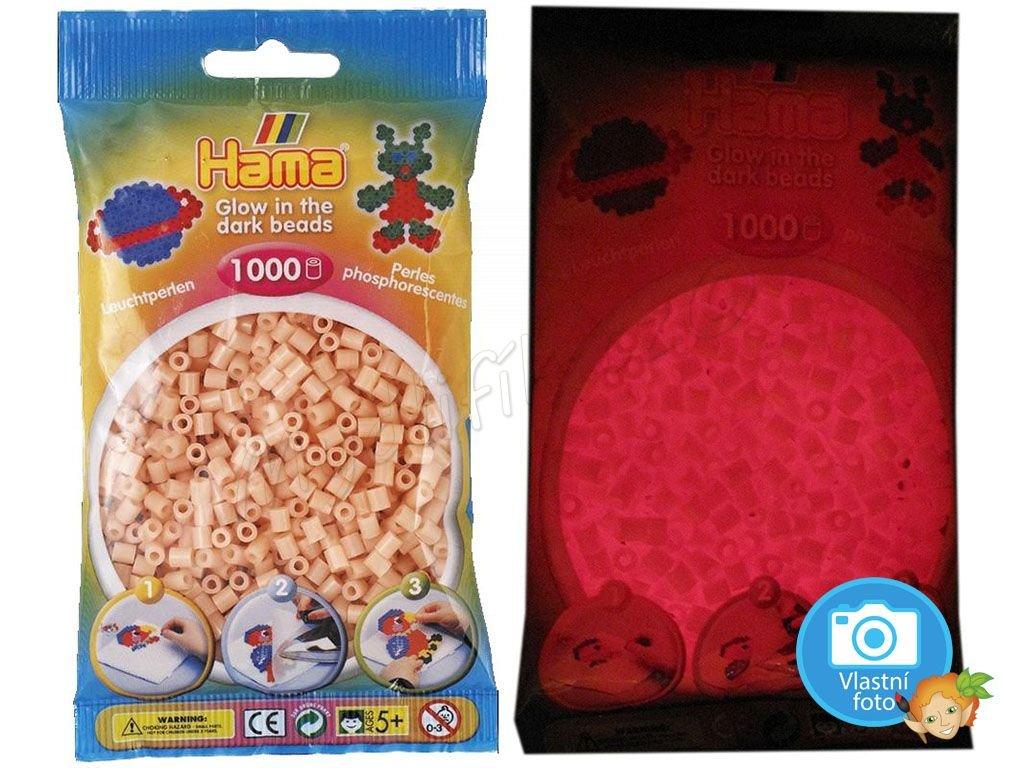 ažehlovací HAMA korálky H207-56, svítící červeně