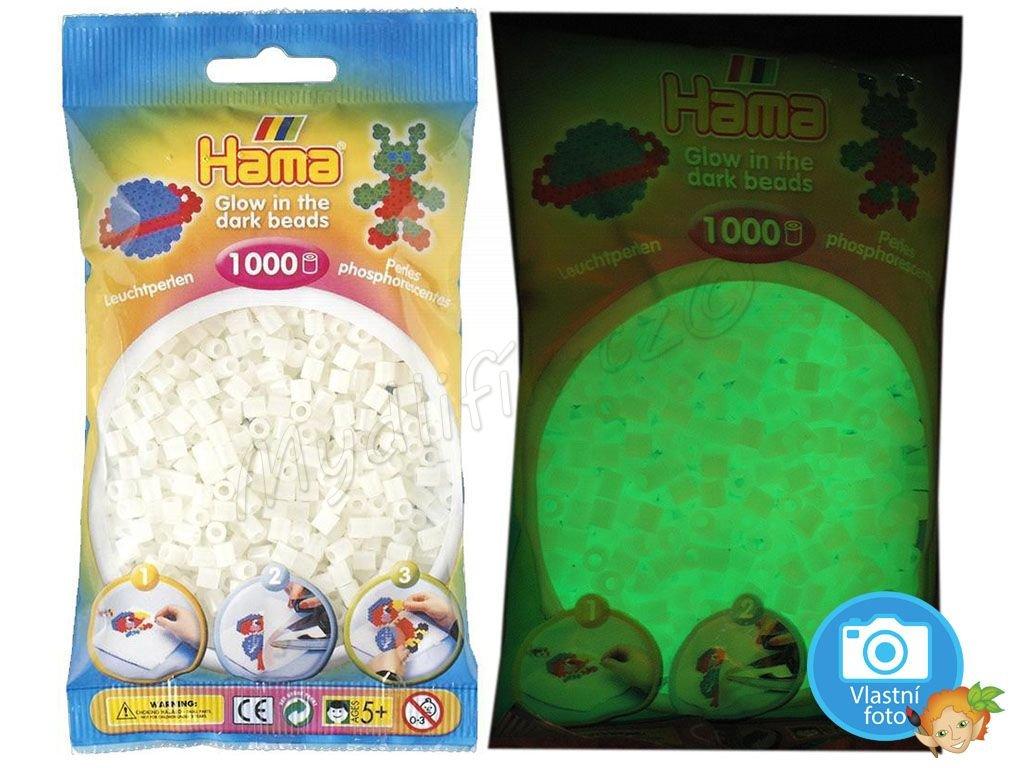 ažehlovací HAMA korálky H207-55, svítící zeleně